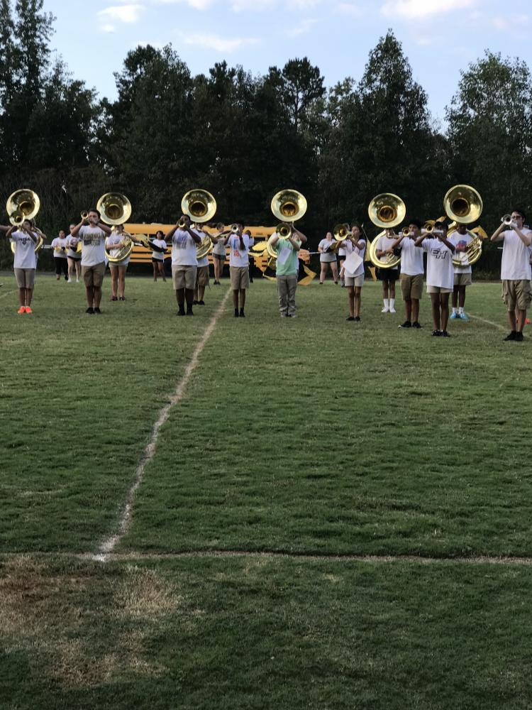 The Viking Band works hard to prepare for competition.