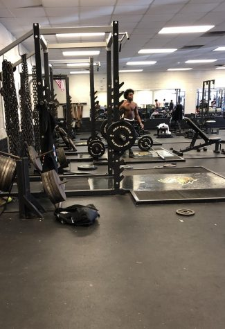 It's out with the old,  in with new in the weight training room